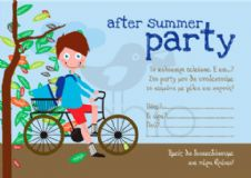 Party invitation after summer party- boy / Προσκλητήριο για πάρτυ after summer party- αγόρι